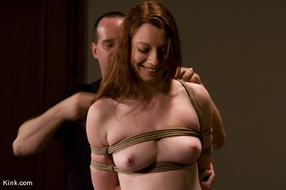 Photo number 4 from Casting Couch 5 Blue-Eyed Beauty Tied & Fucked shot for Hogtied on Kink.com. Featuring Amber Keen in hardcore BDSM & Fetish porn.