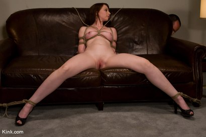 Photo number 5 from Casting Couch 5 Blue-Eyed Beauty Tied & Fucked shot for Hogtied on Kink.com. Featuring Amber Keen in hardcore BDSM & Fetish porn.