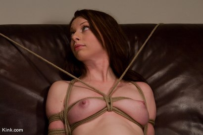 Photo number 6 from Casting Couch 5 Blue-Eyed Beauty Tied & Fucked shot for Hogtied on Kink.com. Featuring Amber Keen in hardcore BDSM & Fetish porn.
