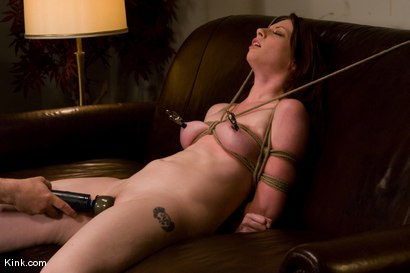Photo number 7 from Casting Couch 5 Blue-Eyed Beauty Tied & Fucked shot for Hogtied on Kink.com. Featuring Amber Keen in hardcore BDSM & Fetish porn.