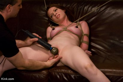 Photo number 9 from Casting Couch 5 Blue-Eyed Beauty Tied & Fucked shot for Hogtied on Kink.com. Featuring Amber Keen in hardcore BDSM & Fetish porn.