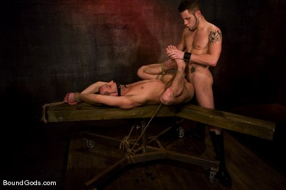 Photo number 11 from Do You Know Who I Am? shot for Bound Gods on Kink.com. Featuring Jason Miller and Wolf Hudson in hardcore BDSM & Fetish porn.
