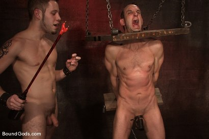 Photo number 9 from Do You Know Who I Am? shot for Bound Gods on Kink.com. Featuring Jason Miller and Wolf Hudson in hardcore BDSM & Fetish porn.