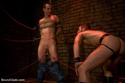 Photo number 3 from Do You Know Who I Am? shot for Bound Gods on Kink.com. Featuring Jason Miller and Wolf Hudson in hardcore BDSM & Fetish porn.