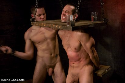 Photo number 6 from Do You Know Who I Am? shot for Bound Gods on Kink.com. Featuring Jason Miller and Wolf Hudson in hardcore BDSM & Fetish porn.