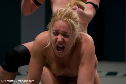 "Photo number 15 from Hollie Stevens ""The Amazon""  (1-1) <br>vs<br>Ami Emerson ""The Valkyrie"" (0-1) shot for Ultimate Surrender on Kink.com. Featuring Hollie Stevens and Ami Emerson in hardcore BDSM & Fetish porn."
