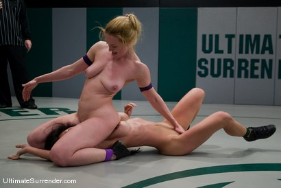 "Photo number 14 from Darling ""The Grappler""  (1-0) <br>vs<br>Tia ""JADE"" Ling shot for Ultimate Surrender on Kink.com. Featuring Tia Ling and Dee Williams in hardcore BDSM & Fetish porn."