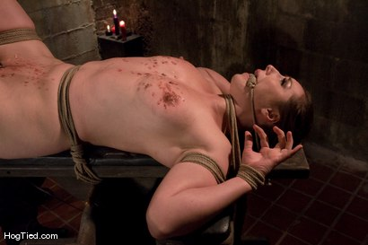 Photo number 11 from Pain Slut! :  Sister Dee is pulled three ways shot for Hogtied on Kink.com. Featuring Sister Dee in hardcore BDSM & Fetish porn.