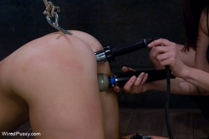 Photo number 7 from Bella Rossi gets her big natural tits shocked and bound!!! shot for Wired Pussy on Kink.com. Featuring Princess Donna Dolore and Bella Rossi in hardcore BDSM & Fetish porn.