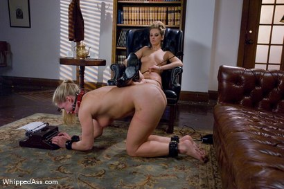 Photo number 9 from Bad Servant shot for Whipped Ass on Kink.com. Featuring Maitresse Madeline Marlowe  and Dia Zerva in hardcore BDSM & Fetish porn.
