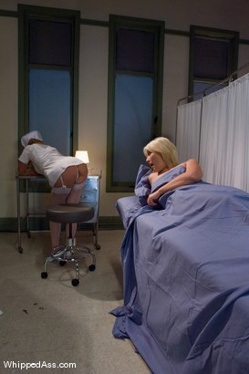 Photo number 1 from The Night Nurse shot for Whipped Ass on Kink.com. Featuring Maitresse Madeline Marlowe and Krissy Leigh in hardcore BDSM & Fetish porn.