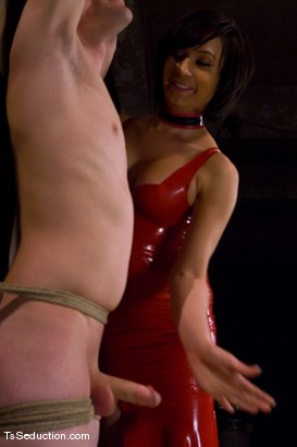 Photo number 2 from Sexy Deanna and her toy shot for TS Seduction on Kink.com. Featuring Deanna and Sky Burn in hardcore BDSM & Fetish porn.