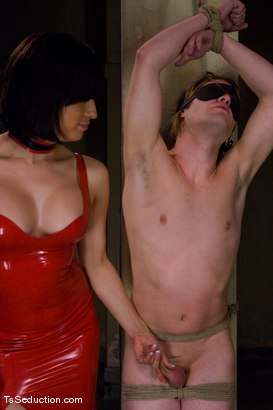 Photo number 3 from Sexy Deanna and her toy shot for TS Seduction on Kink.com. Featuring Deanna and Sky Burn in hardcore BDSM & Fetish porn.