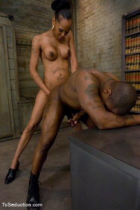 Photo number 12 from Don't ask, don't tell - just suck it. shot for TS Seduction on Kink.com. Featuring Foxy and Jack Hammer in hardcore BDSM & Fetish porn.
