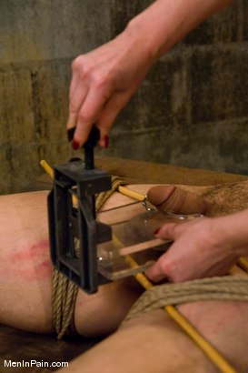 Photo number 10 from Training the Basement Slave shot for Men In Pain on Kink.com. Featuring Maitresse Madeline Marlowe  and Orlando in hardcore BDSM & Fetish porn.