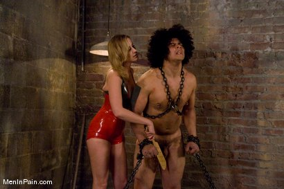 Photo number 6 from Training the Basement Slave shot for Men In Pain on Kink.com. Featuring Maitresse Madeline Marlowe  and Orlando in hardcore BDSM & Fetish porn.
