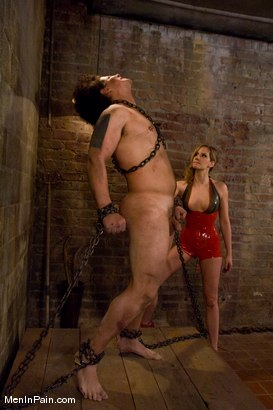 Photo number 8 from Training the Basement Slave shot for Men In Pain on Kink.com. Featuring Maitresse Madeline Marlowe  and Orlando in hardcore BDSM & Fetish porn.