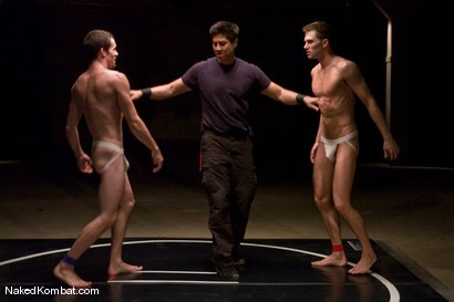 Photo number 1 from Jimmie Slater vs Shane Erickson shot for Naked Kombat on Kink.com. Featuring Shane Erickson and Jimmie Slater in hardcore BDSM & Fetish porn.