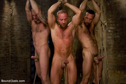 Photo number 1 from Les Trois Petits Cochons shot for Bound Gods on Kink.com. Featuring Xavier St-Jude, Kurt Weber and Tober Brandt in hardcore BDSM & Fetish porn.