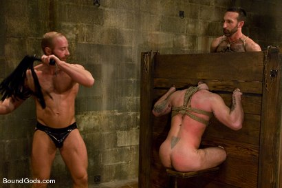 Photo number 8 from Les Trois Petits Cochons shot for Bound Gods on Kink.com. Featuring Xavier St-Jude, Kurt Weber and Tober Brandt in hardcore BDSM & Fetish porn.