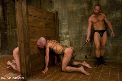 Photo number 9 from Les Trois Petits Cochons shot for Bound Gods on Kink.com. Featuring Xavier St-Jude, Kurt Weber and Tober Brandt in hardcore BDSM & Fetish porn.