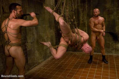 Photo number 12 from Les Trois Petits Cochons shot for Bound Gods on Kink.com. Featuring Xavier St-Jude, Kurt Weber and Tober Brandt in hardcore BDSM & Fetish porn.