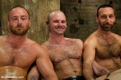 Photo number 15 from Les Trois Petits Cochons shot for Bound Gods on Kink.com. Featuring Xavier St-Jude, Kurt Weber and Tober Brandt in hardcore BDSM & Fetish porn.