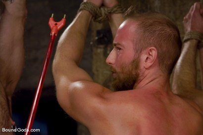 Photo number 4 from Les Trois Petits Cochons shot for Bound Gods on Kink.com. Featuring Xavier St-Jude, Kurt Weber and Tober Brandt in hardcore BDSM & Fetish porn.