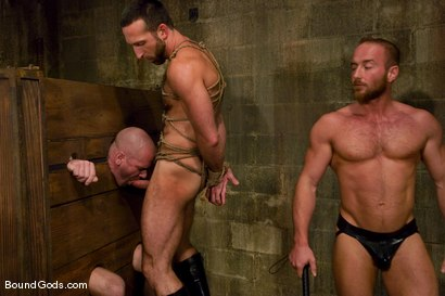 Photo number 6 from Les Trois Petits Cochons shot for Bound Gods on Kink.com. Featuring Xavier St-Jude, Kurt Weber and Tober Brandt in hardcore BDSM & Fetish porn.