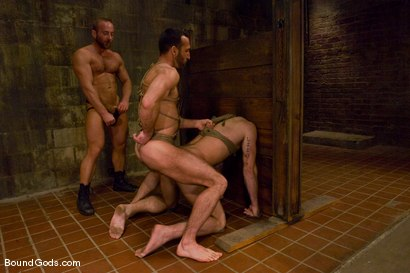 Photo number 11 from Les Trois Petits Cochons shot for Bound Gods on Kink.com. Featuring Xavier St-Jude, Kurt Weber and Tober Brandt in hardcore BDSM & Fetish porn.