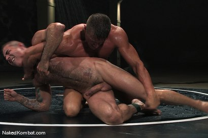 Photo number 10 from Nick Moretti vs Tyler Saint<br />The Water Match shot for Naked Kombat on Kink.com. Featuring Tyler Saint and Nick Moretti in hardcore BDSM & Fetish porn.