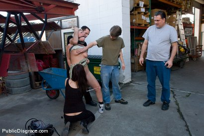Photo number 3 from Krissy Leigh Fisted and Ass Fucked in Public! shot for Public Disgrace on Kink.com. Featuring Krissy Leigh and Maestro in hardcore BDSM & Fetish porn.