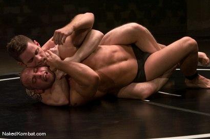Photo number 4 from Patrick Rouge vs Wolf Hudson<br />The Oil Match shot for Naked Kombat on Kink.com. Featuring Patrick Rouge and Wolf Hudson in hardcore BDSM & Fetish porn.