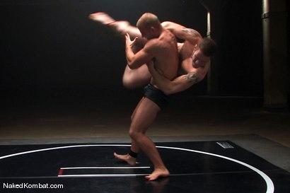 Photo number 2 from Patrick Rouge vs Wolf Hudson<br />The Oil Match shot for Naked Kombat on Kink.com. Featuring Patrick Rouge and Wolf Hudson in hardcore BDSM & Fetish porn.