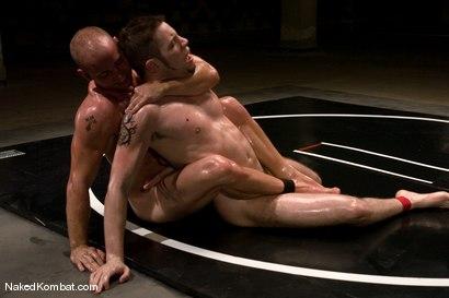 Photo number 12 from Patrick Rouge vs Wolf Hudson<br />The Oil Match shot for Naked Kombat on Kink.com. Featuring Patrick Rouge and Wolf Hudson in hardcore BDSM & Fetish porn.