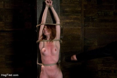 Photo number 10 from Sasha Lexing... She Laughs in the face of pain! shot for Hogtied on Kink.com. Featuring Sasha Lexing in hardcore BDSM & Fetish porn.