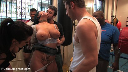 Photo number 1 from Boxing Gym shot for Public Disgrace on Kink.com. Featuring Claire Dames and James Deen in hardcore BDSM & Fetish porn.