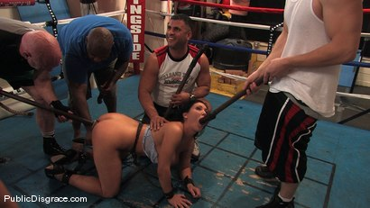 Photo number 12 from Boxing Gym shot for Public Disgrace on Kink.com. Featuring Claire Dames and James Deen in hardcore BDSM & Fetish porn.