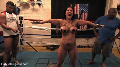 Photo number 11 from Boxing Gym shot for Public Disgrace on Kink.com. Featuring Claire Dames and James Deen in hardcore BDSM & Fetish porn.