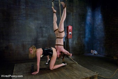 Photo number 13 from Maitresse Madeline vs Bronte shot for Wired Pussy on Kink.com. Featuring Maitresse Madeline Marlowe  and Bronte in hardcore BDSM & Fetish porn.