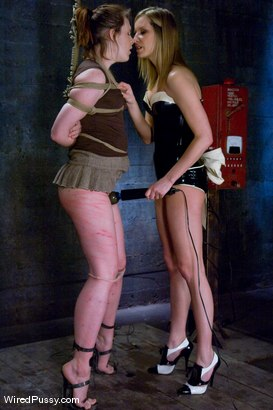 Photo number 3 from Maitresse Madeline vs Bronte shot for Wired Pussy on Kink.com. Featuring Maitresse Madeline Marlowe  and Bronte in hardcore BDSM & Fetish porn.