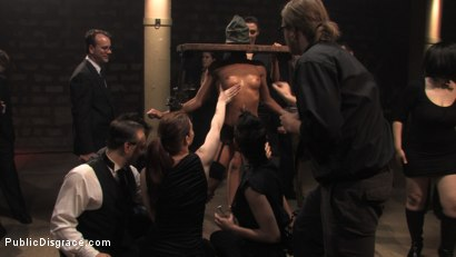 Photo number 1 from MEMBER'S FAVORITE CLASSIC ARCHIVE SHOOT: Cecilia Vega in the Armory shot for Public Disgrace on Kink.com. Featuring Cecilia Vega and John Strong in hardcore BDSM & Fetish porn.