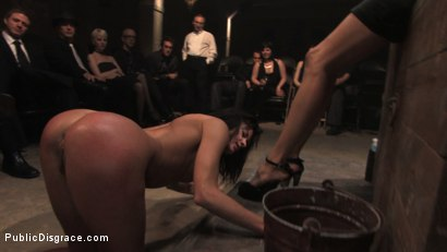 Photo number 14 from MEMBER'S FAVORITE CLASSIC ARCHIVE SHOOT: Cecilia Vega in the Armory shot for Public Disgrace on Kink.com. Featuring Cecilia Vega and John Strong in hardcore BDSM & Fetish porn.