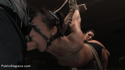 Photo number 4 from MEMBER'S FAVORITE CLASSIC ARCHIVE SHOOT: Cecilia Vega in the Armory shot for Public Disgrace on Kink.com. Featuring Cecilia Vega and John Strong in hardcore BDSM & Fetish porn.