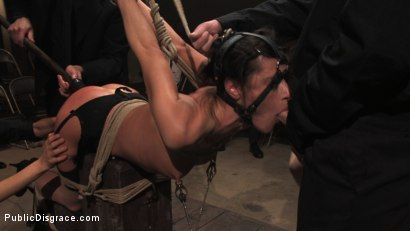Photo number 7 from MEMBER'S FAVORITE CLASSIC ARCHIVE SHOOT: Cecilia Vega in the Armory shot for Public Disgrace on Kink.com. Featuring Cecilia Vega and John Strong in hardcore BDSM & Fetish porn.