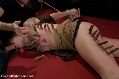 Photo number 4 from Ami Emerson shot for Sex And Submission on Kink.com. Featuring James Deen and Ami Emerson in hardcore BDSM & Fetish porn.