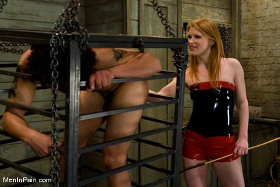 Photo number 2 from Dominatrix in Red shot for Men In Pain on Kink.com. Featuring Madison Young and Le Rock in hardcore BDSM & Fetish porn.