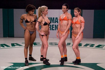 Photo number 1 from LIVE TAG TEAM LEAGUE <BR>The Dragons(0-0)<br> vs <br> The Pirates (0-0) shot for Ultimate Surrender on Kink.com. Featuring Dia Zerva, Yana Jordan, Ariel X and Wenona in hardcore BDSM & Fetish porn.