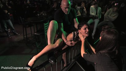 Photo number 13 from Beautiful brunnette, Jade Indica, is bound and fucked in a crowded bar shot for Public Disgrace on Kink.com. Featuring Miss Jade Indica and Mark Davis in hardcore BDSM & Fetish porn.