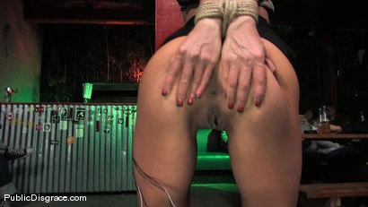 Photo number 3 from Beautiful brunnette, Jade Indica, is bound and fucked in a crowded bar shot for Public Disgrace on Kink.com. Featuring Miss Jade Indica and Mark Davis in hardcore BDSM & Fetish porn.